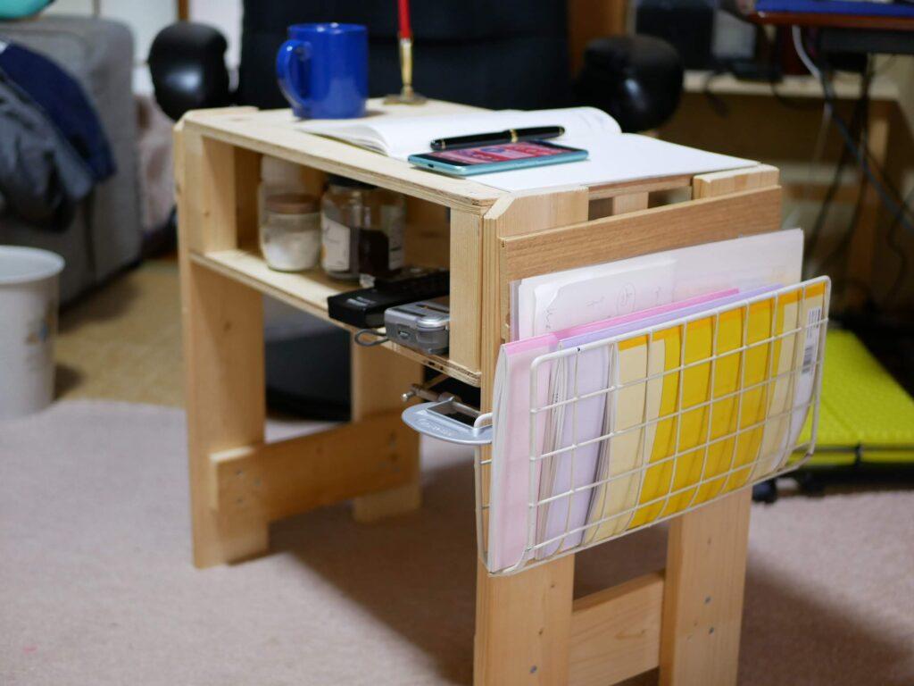 サイドテーブル DIYで作った