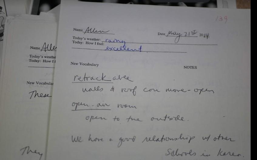 139回目のノート 英語名で「Allen」がわがたしのニックネーム