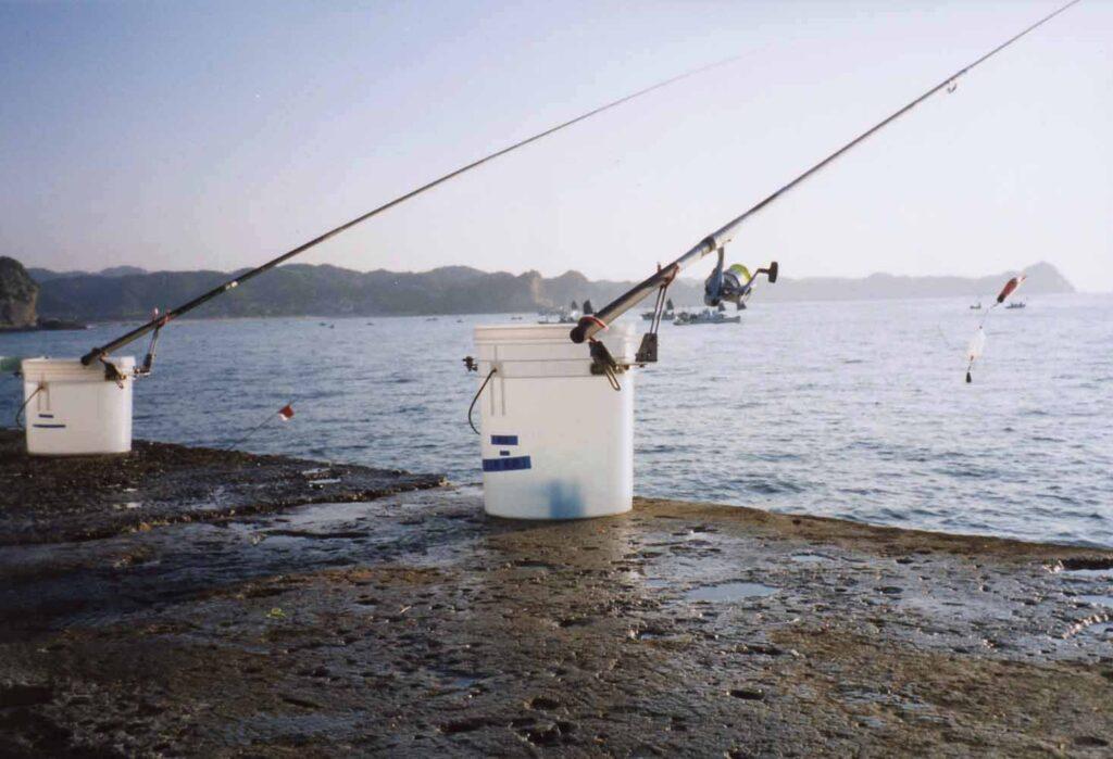 釣り仲間がつくったオリジナルのバケツ